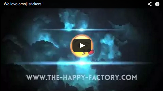 capture d'ecran film presentation emoji stickers sur the happy factory