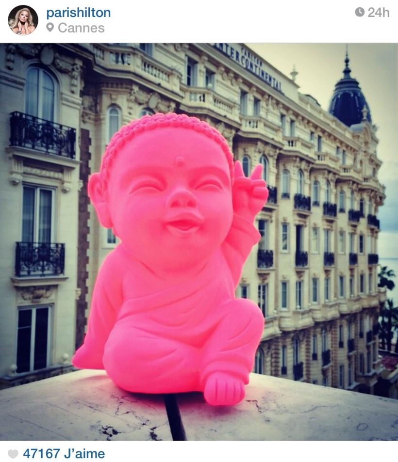 capture d'ecran du compte Instagram de Paris Hilton presentant Iki