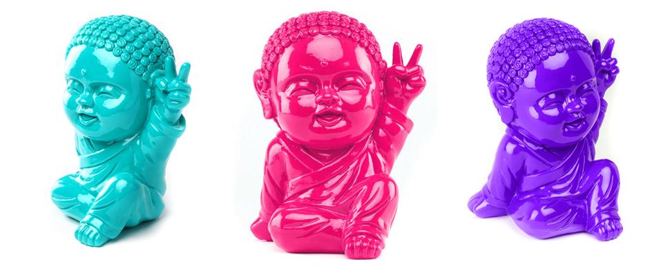 photo présentant 3 variation du bouddha Iki