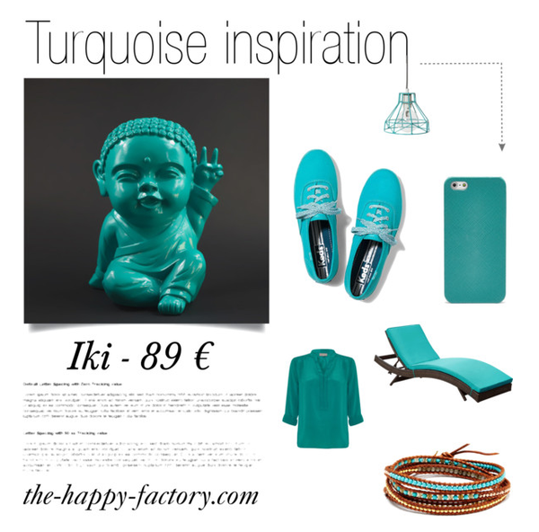Illustration couleur turquoise article decoration